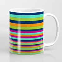 stripe Mugs featuring Stripe by Aimee St Hill