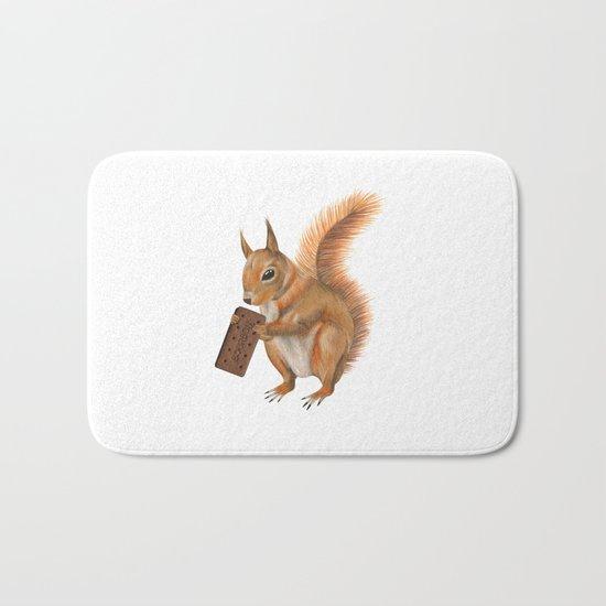 Super squirrel. Bath Mat