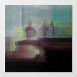 Glitch_art: Zen Sukhothai Canvas Print