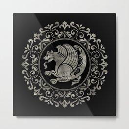 Simurg -Senvurv -Senmurgh Metal Print