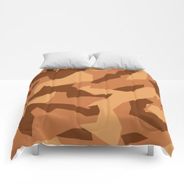 Army Camouflage Pattern Orange Sand Comforters