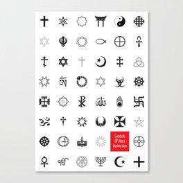 Symbols of mass destruction Canvas Print