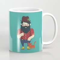 beard Mugs featuring Beard & Kitten by Beardy Graphics