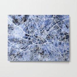 Manchester England City Street Map Metal Print