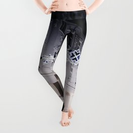 Winter Horse Carriage Ride (Color) Leggings