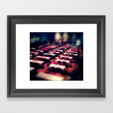 Tables and such. Framed Art Print