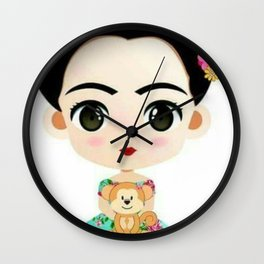 Frida Cartoon Wall Clock