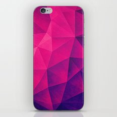 Abstract Polygon Multi Color Cubizm Painting in deep pink/purple  iPhone Skin