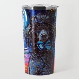 Black Poodle Night Travel Mug