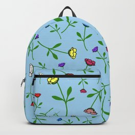 Colorful Flower Toss Backpack