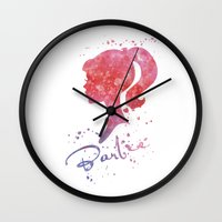 barbie Wall Clocks featuring Barbie by Carma Zoe