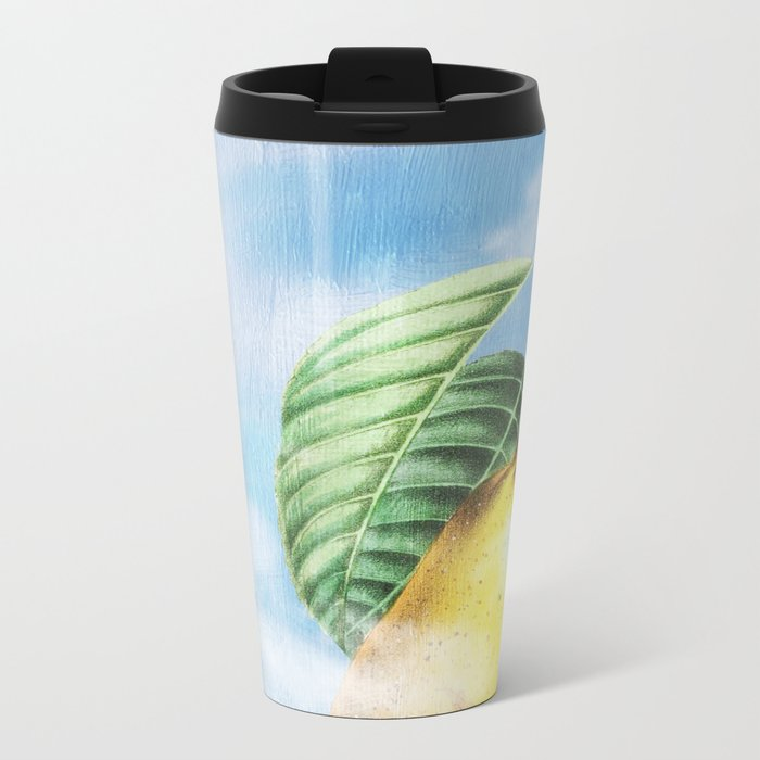 Pear Heaven Metal Travel Mug