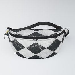 Cubic - Black & White Marble #895 Fanny Pack