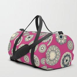 mandala cirque spot pink Duffle Bag