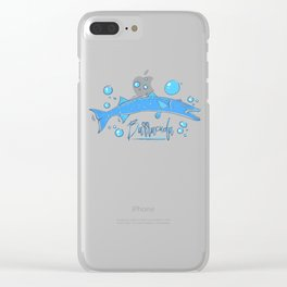 Big Blue Barracuda Clear iPhone Case