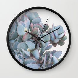 Blue Cactus Wall Clock