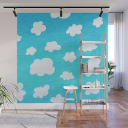 Happy Little Clouds Wall Mural