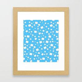 Blue Flying Books Pattern Framed Art Print