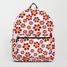 Random Red Flowers Backpack