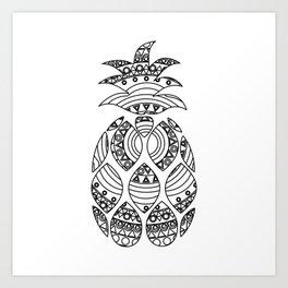 Ornate pineapple Art Print