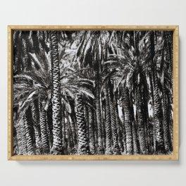 Palm Trees-B&W Serving Tray