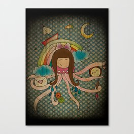 I'm A Little Octopus Canvas Print