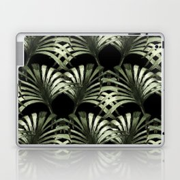 Tropical leaves in black background Laptop & iPad Skin