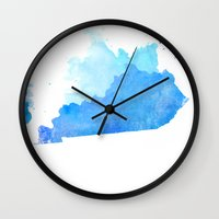 kentucky Wall Clocks featuring Kentucky Nocturne by Matthew Taylor Wilson