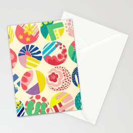 Abstract circle fun pattern Stationery Cards