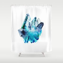 Watercolor Gemstone Shower Curtain