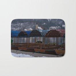 Pletna Boats At Bled Lake Bath Mat