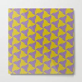 Trinity Pattern Yellow Purple Metal Print