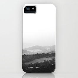 Hill Mist - Black and White Collection iPhone Case