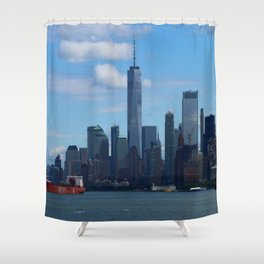 Manhattan View And Hudson River Shower Curtain
