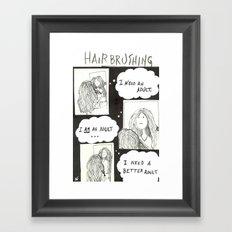 Hair Brushing Framed Art Print