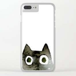 I Love Cats No.13 by Kathy Morton Stanion Clear iPhone Case