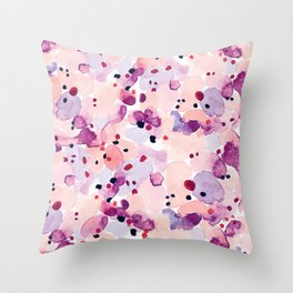 Abstract-Pink Throw Pillow