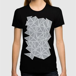 Shattered Ab Grey and White T-shirt
