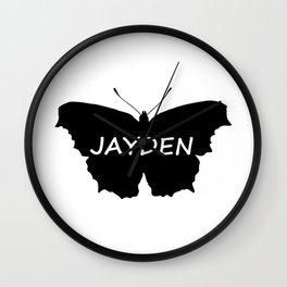 Jayden Butterfly Wall Clock