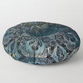 Flower mandala -night Floor Pillow