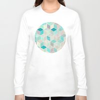 bedding Long Sleeve T-shirts featuring Vacation Patchwork by micklyn