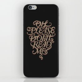 Please Don't iPhone Skin