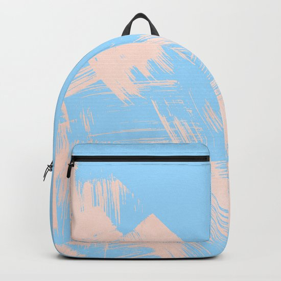 Paint Swipes Blue Raspberry and Sweet Peach Pink Backpack