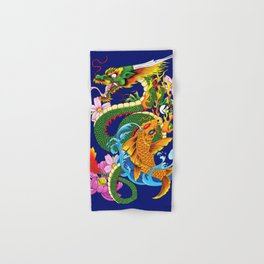 Dragon & Koi Hand & Bath Towel