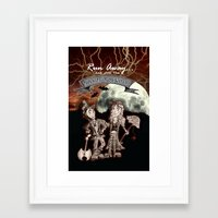 rock n roll Framed Art Prints featuring Rock 'N' Roll Circus by Melissa Morrison