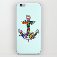 anchor iPhone & iPod Skins featuring anchor by ybalasiano
