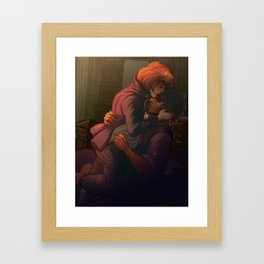 Prouvaire and Grantaire Framed Art Print