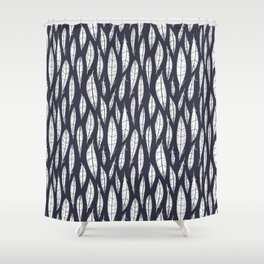 Quail Feathers (Midnight) Shower Curtain