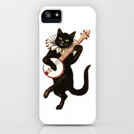 Black Halloween Cat for Decor and T Shirts iPhone Case