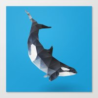killer whale Canvas Prints featuring Killer Whale. by Diana D'Achille